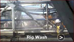Cleaning a rig